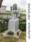 statue of virgin mary and child ...   Shutterstock . vector #1087345568