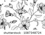 seamless flower pattern... | Shutterstock .eps vector #1087348724