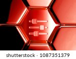 red glossy sliders icon in the...