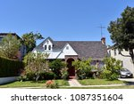 beautiful two story mansion... | Shutterstock . vector #1087351604