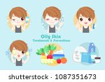 man with oily skin treatment... | Shutterstock .eps vector #1087351673