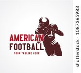 american football logo designs... | Shutterstock .eps vector #1087365983