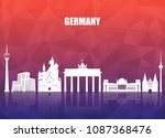 germany landmark global travel... | Shutterstock .eps vector #1087368476