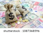 money saving  investment and... | Shutterstock . vector #1087368596