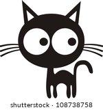 Stock vector vector illustration of cat 108738758