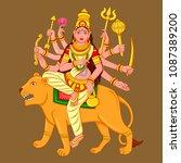 vector design of statue of... | Shutterstock .eps vector #1087389200