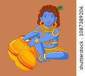 vector design of statue of... | Shutterstock .eps vector #1087389206