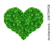 Green Heart Sign Made From...