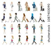 illustrations of various people ... | Shutterstock .eps vector #1087403090