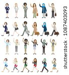 illustrations of various people ... | Shutterstock .eps vector #1087403093