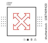 extend  resize  enlarge line...   Shutterstock .eps vector #1087409420