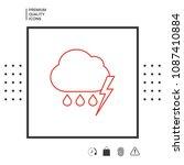 cloud thunderstorm lightning... | Shutterstock .eps vector #1087410884