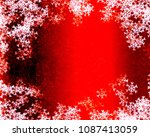 snowflake background design | Shutterstock . vector #1087413059