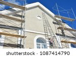 painting and plastering... | Shutterstock . vector #1087414790