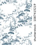 japanese chinese design sketch... | Shutterstock .eps vector #1087415219