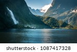 the powerful bowen falls on a... | Shutterstock . vector #1087417328