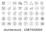 cryptocurrency trading icon set.... | Shutterstock .eps vector #1087420004