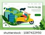 vector illustration   girl... | Shutterstock .eps vector #1087422950