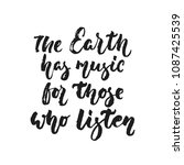 the earth has music for those... | Shutterstock .eps vector #1087425539