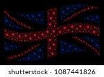 waving british official flag... | Shutterstock .eps vector #1087441826