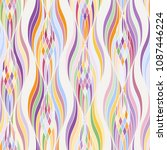 coloring abstract wave stylish... | Shutterstock .eps vector #1087446224