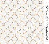 vector abstract seamless wavy... | Shutterstock .eps vector #1087446230