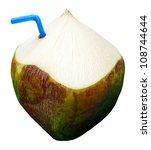 fresh green coconut fruit drink | Shutterstock . vector #108744644