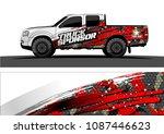 pickup truck graphic vector.... | Shutterstock .eps vector #1087446623
