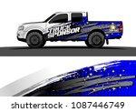 pickup truck graphic vector.... | Shutterstock .eps vector #1087446749
