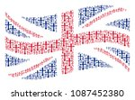 waving uk official flag mosaic... | Shutterstock .eps vector #1087452380