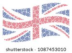waving uk official flag concept ... | Shutterstock .eps vector #1087453010