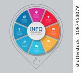 vector infographic template for ...   Shutterstock .eps vector #1087453079