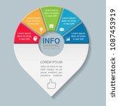 vector infographic template for ...   Shutterstock .eps vector #1087453919