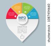 vector infographic template for ...   Shutterstock .eps vector #1087454660