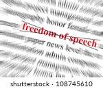 freedom of speech text crossed... | Shutterstock . vector #108745610