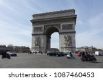 paris  france   april 06 2018 ... | Shutterstock . vector #1087460453