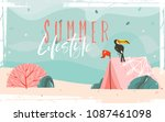 hand drawn vector abstract... | Shutterstock .eps vector #1087461098