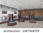 store interior. 3d illustration   Shutterstock . vector #1087468559