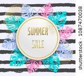 summer sale promotional banner... | Shutterstock . vector #1087470038