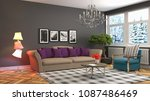 interior living room. 3d... | Shutterstock . vector #1087486469