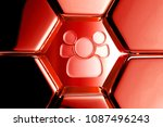 red glossy users icon in the...