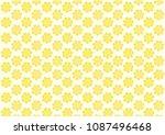 cute flower pattern. | Shutterstock .eps vector #1087496468