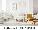 minimalist framed posters on a... | Shutterstock . vector #1087504850