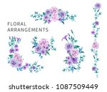 set of floral arrangements for... | Shutterstock .eps vector #1087509449