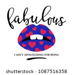 for lipstick t shirt printing...   Shutterstock .eps vector #1087516358