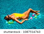 amazing beautiful girl in a... | Shutterstock . vector #1087516763