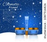 3d realistic cosmetic bottle... | Shutterstock .eps vector #1087516826