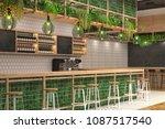 modern design of the bar in... | Shutterstock . vector #1087517540