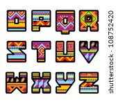 set of letters with the design... | Shutterstock .eps vector #108752420