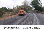 asphalt road is rebuilding. | Shutterstock . vector #1087525829